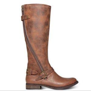 Steve Madden Sinclair Boots Dark Cognac Sz 9